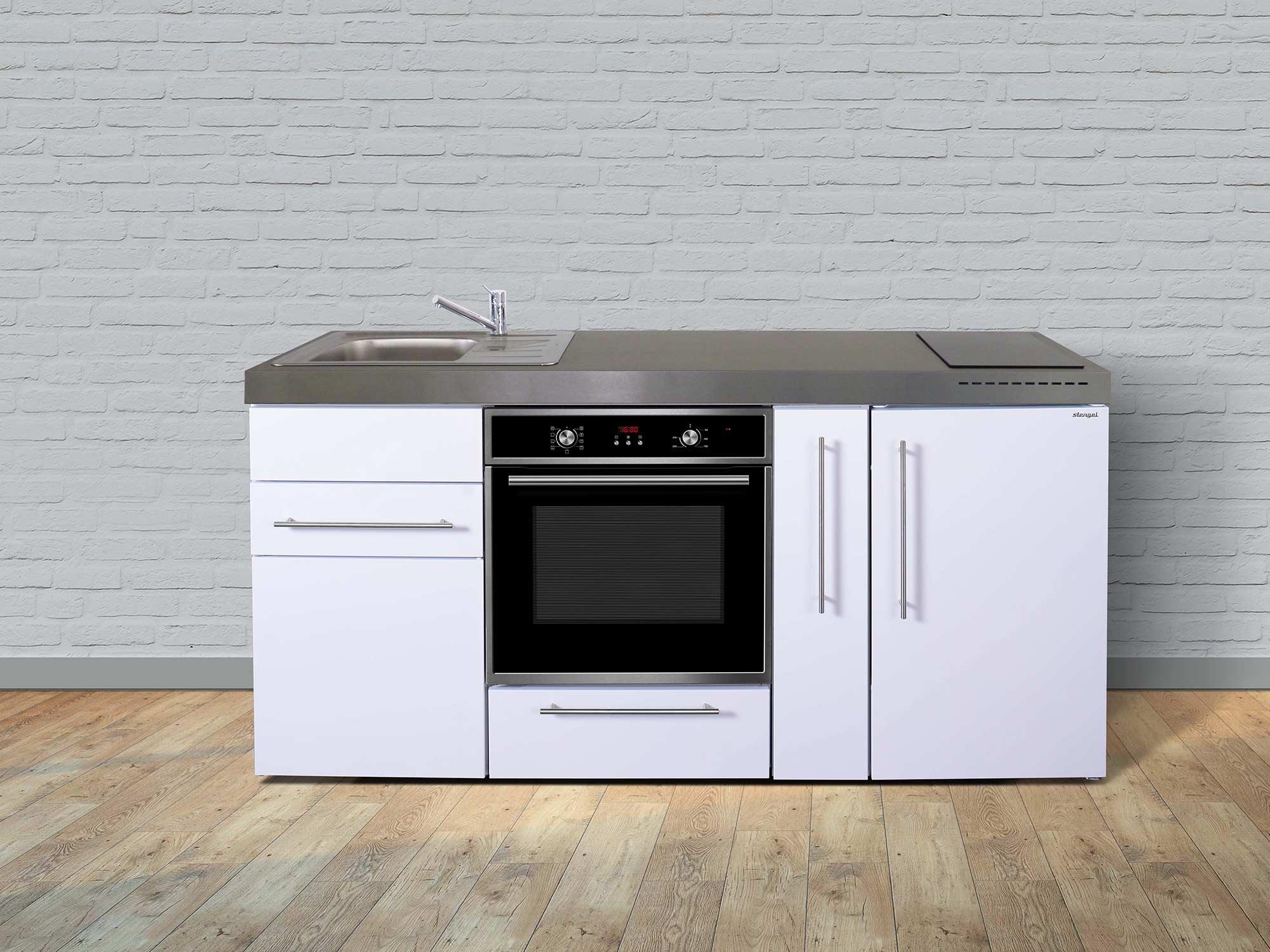 Stengel Miniküche Premiumline MPB 180 A mit Kühlschrank und Backofen und  Apothekerschrank