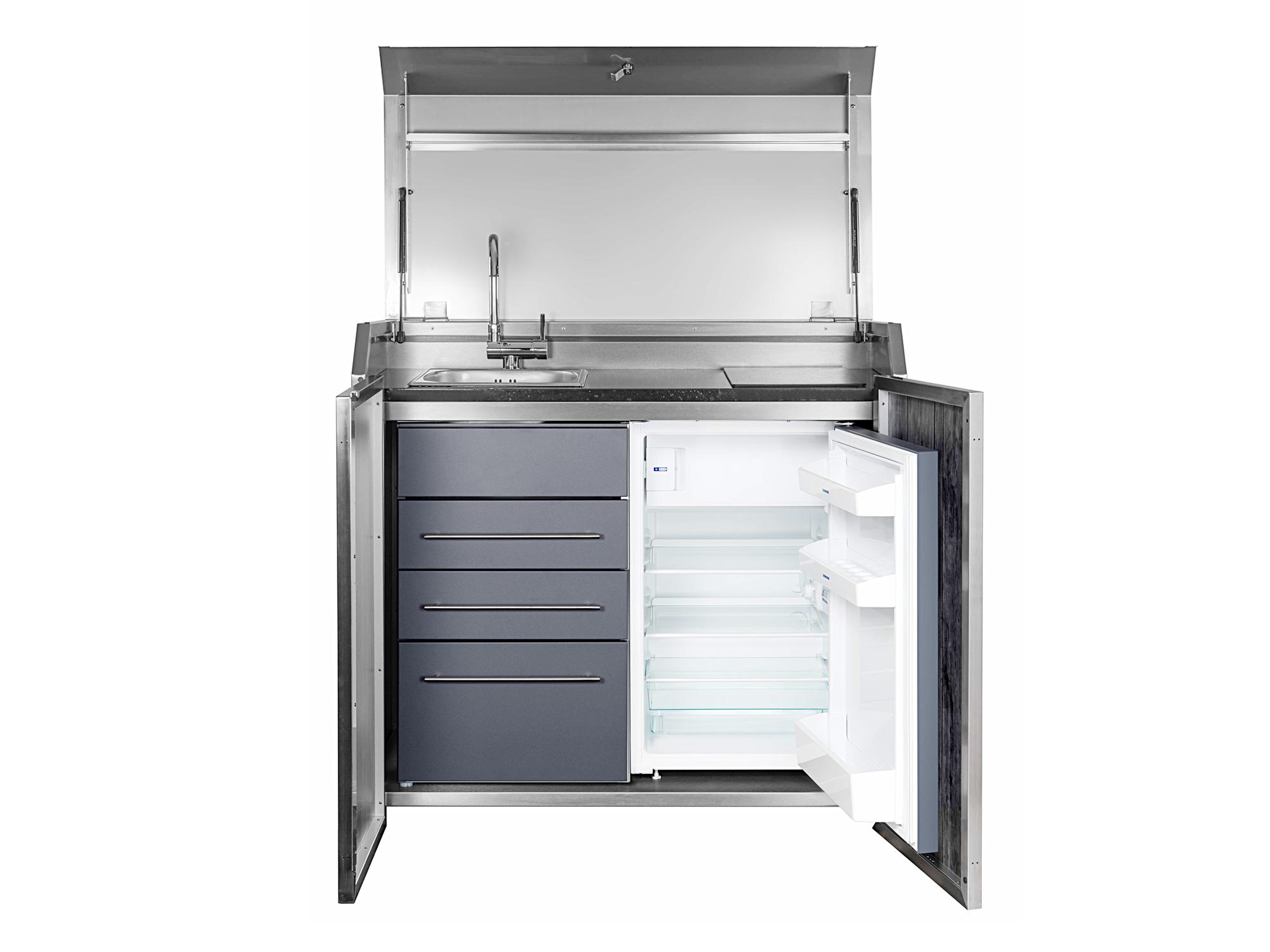 STENGEL Duplex-Box mit Outdoorküche inkl. Kühlschrank