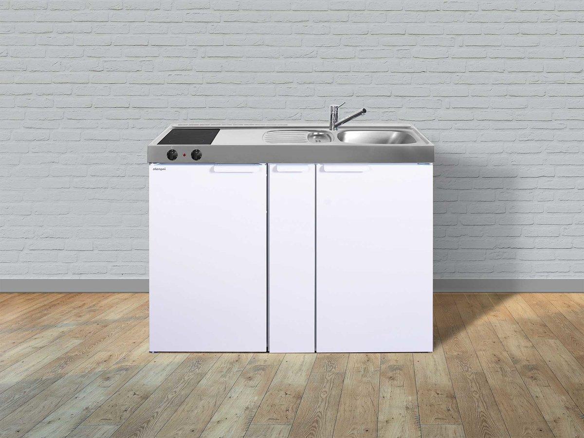 Miniküche 120 Cm Breit Mit Kühlschrank : Stengel singleküche mk 120 a mit kühlschrank und ausziehschrank