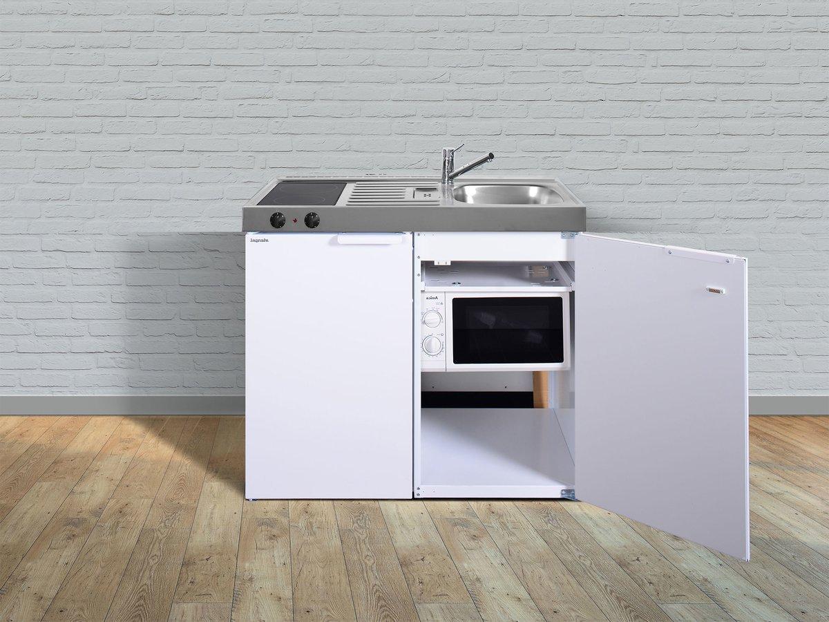 Miniküche Mit Kühlschrank Und Mikrowelle : Miniküchen kitchenline mkm aus edelstahl