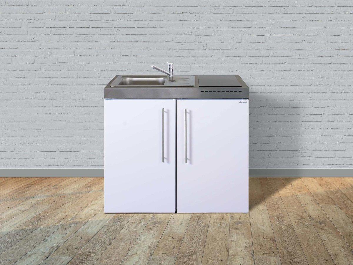 Designer Mini Kühlschrank : Stengel edelstahl miniküche mp 100 mit kühlschrank