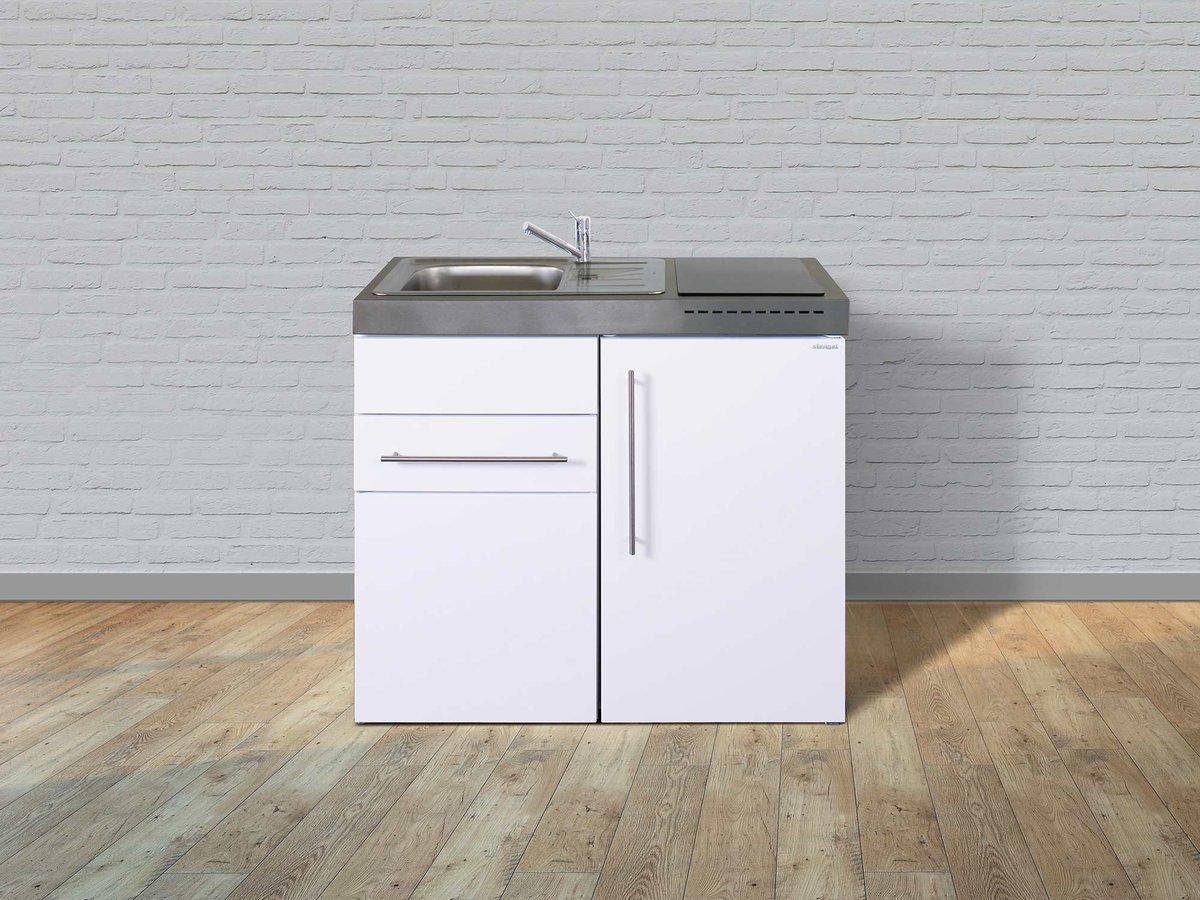 Kühlschrank Schublade : Stengel edelstahl miniküche mp 100 mit kühlschrank