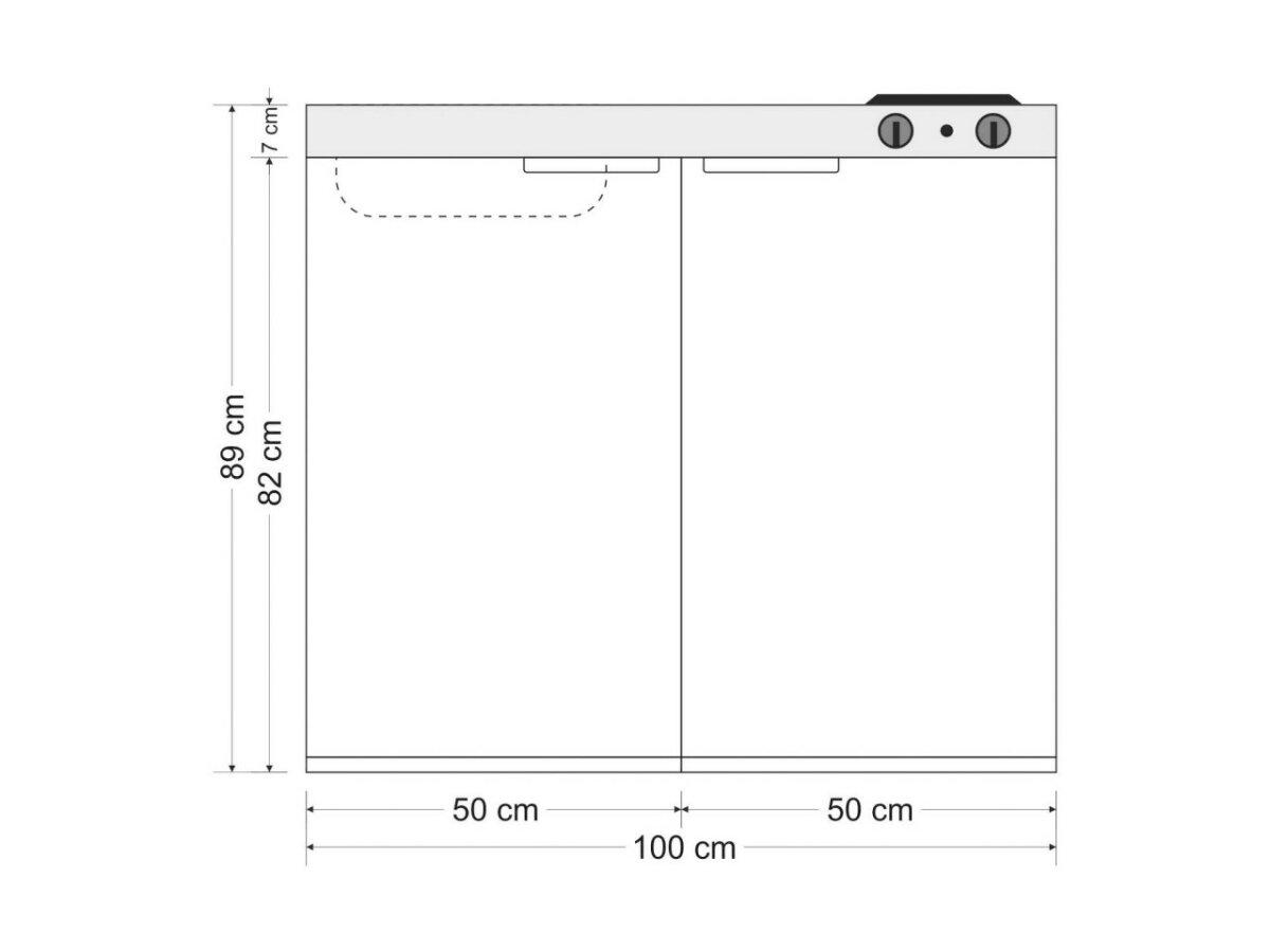 Gut gemocht Stengel Singleküche MK 100 aus Edelstahl mit Kühlschrank XF74