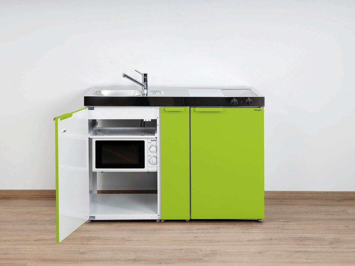 Bon Stengel Miniküche Kitchenline MKM 120 A Mit Kühlschrank, Mikrowelle Und  Ausziehschrank