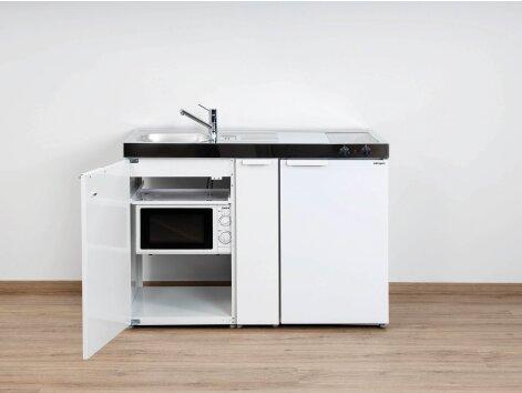 Stengel Miniküche Kitchenline MKM 120 A mit Kühlschrank, Mikrowelle und Ausziehschrank