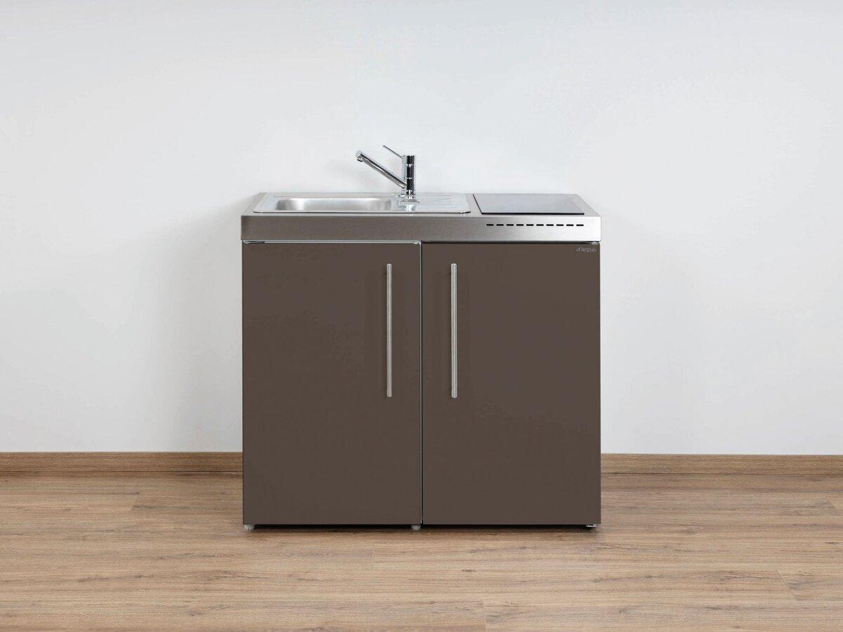 Miniküche Mit Kochfeld Und Kühlschrank : Stengel edelstahl miniküche mp mit kühlschrank