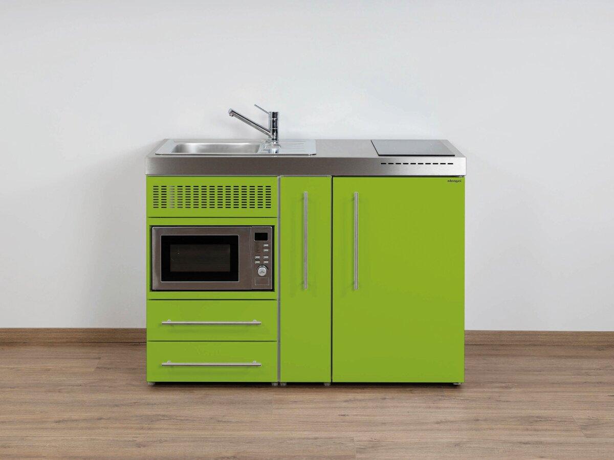 Stengel Miniküche Premiumline MPM 120 A mit Kühlschrank , Mikrowelle und  Ausziehschrank