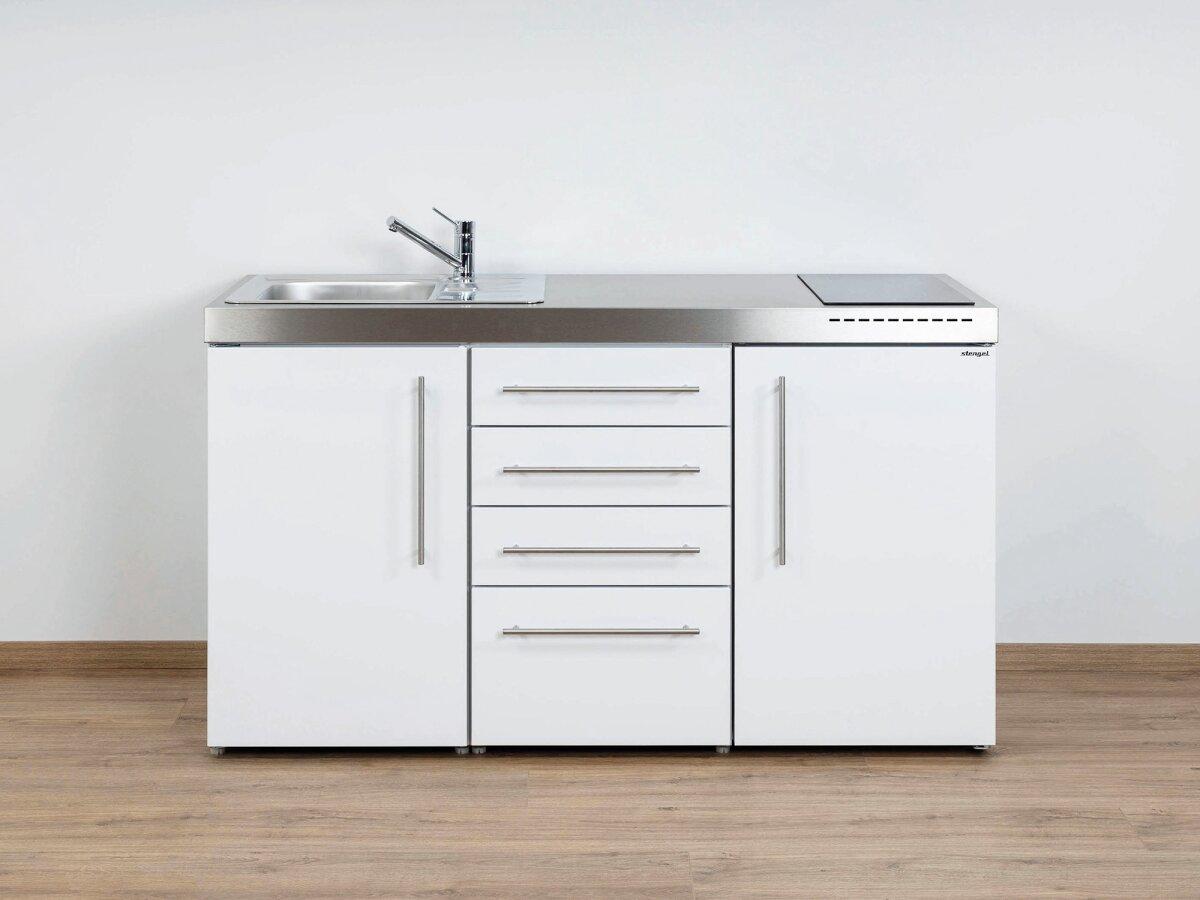 Stengel Miniküche Premiumline MPS4 150 Mit Kühlschrank Und  Schubladenunterbau