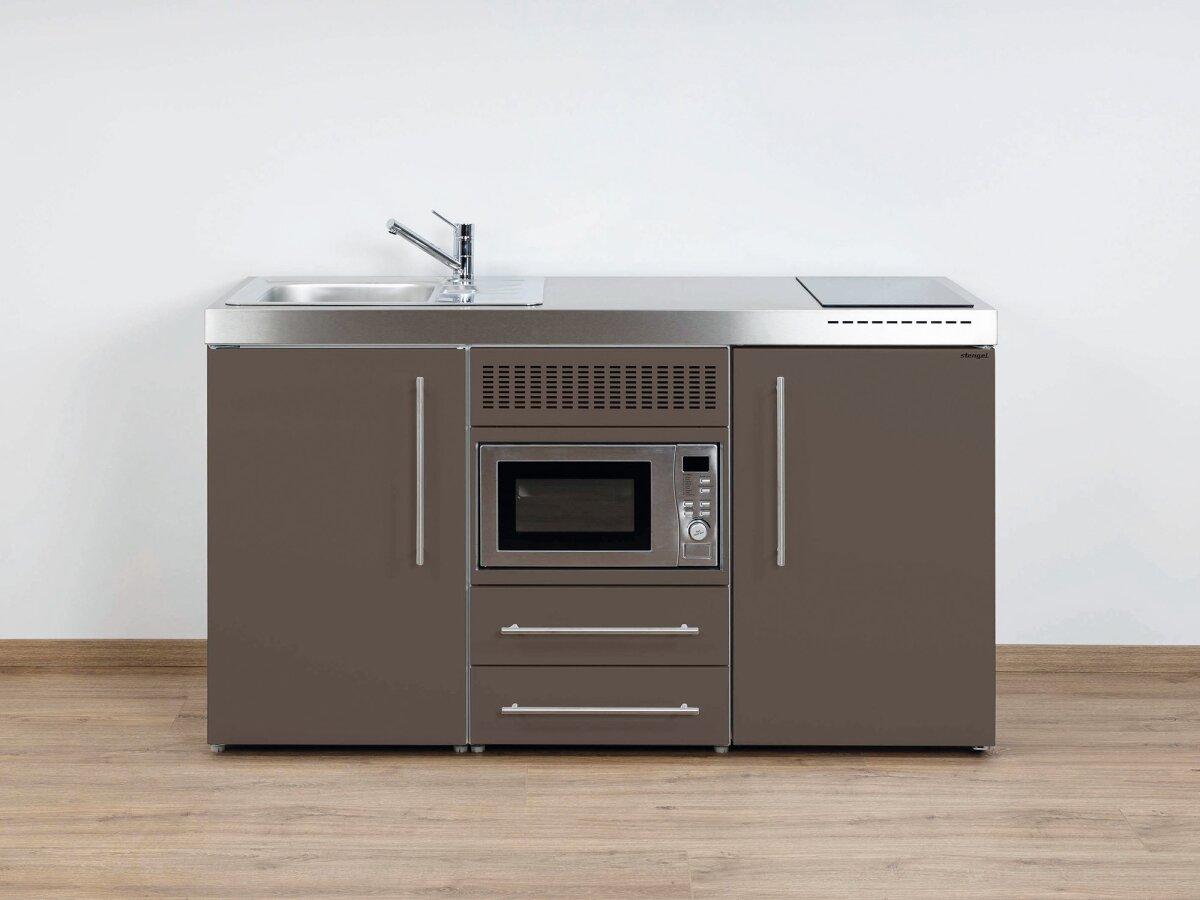 Miniküche Mit Kühlschrank Und Mikrowelle : Premium miniküche mpm von stengel kühlschrank und mikrowelle