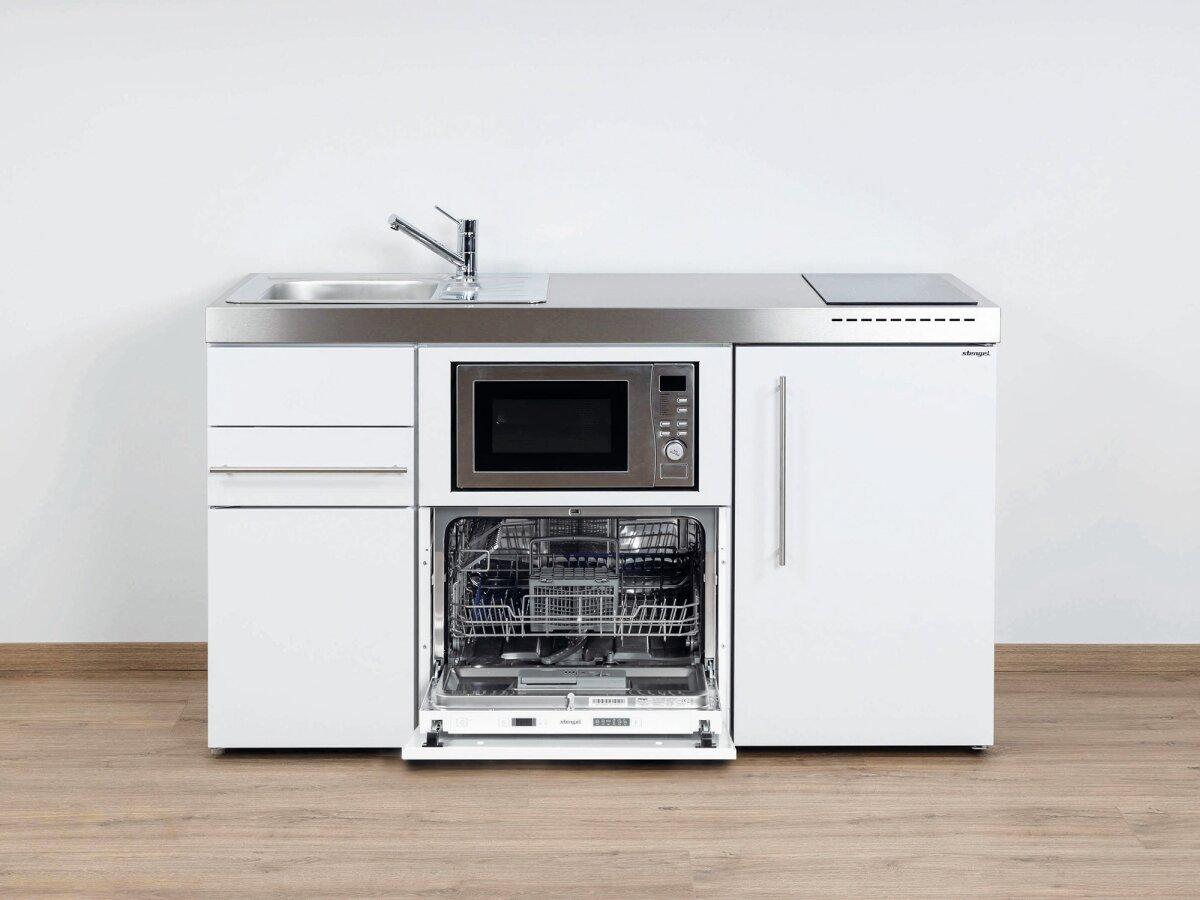 Stengel Premium Miniküche MPGSM 150 mit Kühlschrank, Geschirrspüler &