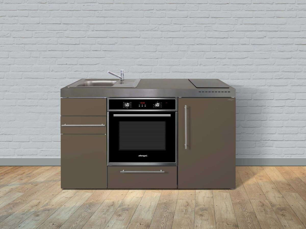 Miniküche Mit Backofen Und Kühlschrank : Stengel edelstahl miniküche mpb premiumline mit backofen