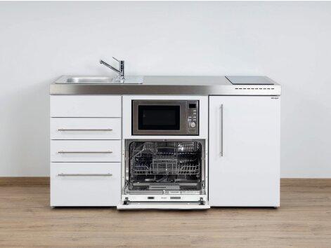 Stengel Miniküche Premiumline MPGSMS3 160 mit Kühlschrank, Geschirrspüler, Mikrowelle