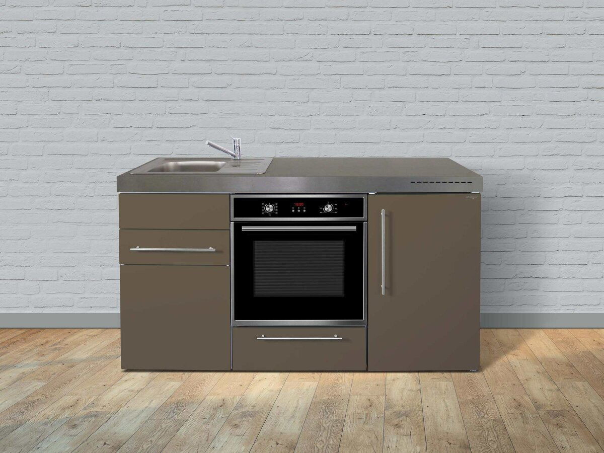 Miniküche Mit Kühlschrank Und Backofen : Stengel edelstahl miniküche mpb mit kühlschrank backofen