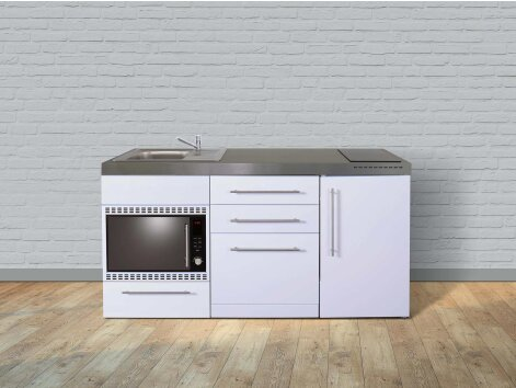 Stengel Miniküche Premiumline MPGSMOS 170 mit Kühlschrank, Geschirrspüler, Mikrowellenofen