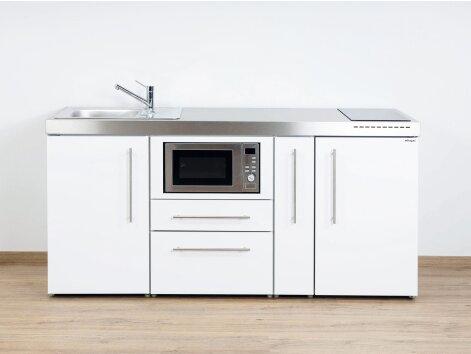 Stengel Miniküche Premiumline MPM 180 A mit Kühlschrank, Mikrowelle und Apothekerauszug