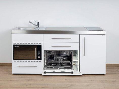 Stengel Miniküche Premiumline MPGSMOS 180 mit Kühlschrank, Geschirrspüler und Mikrowellenofen