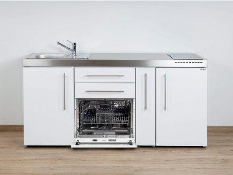 Stengel Miniküche Premiumline MPGS 180 A mit Kühlschrank, Geschirrspüler und Apothekerauszug