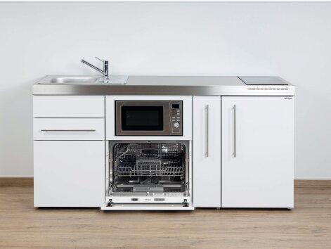Stengel Miniküche Premiumline MPGSM 180 A mit Kühlschrank, Geschirrspüler, Mikrowelle und Apothekerauszug