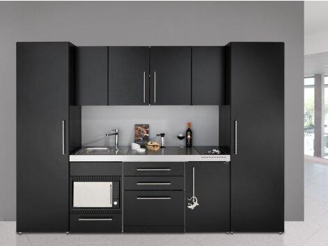 VIOLA 300 - Mini-Küchenzeile mit Geschirrspüler, Mikrowellenofen und Kühlschrank 300cm