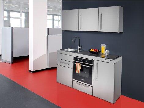 GRAZIA 160 - Küchenzeile mit Backofen und Kühlschrank 160cm