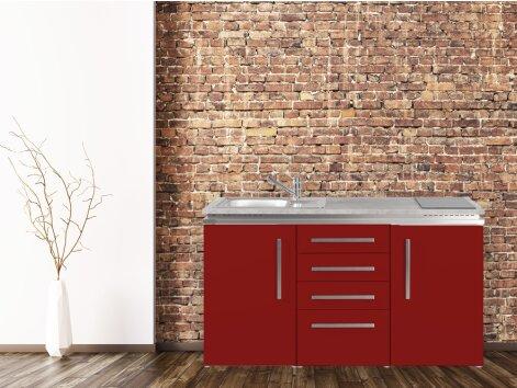 Stengel Miniküche Designline MDS4 150 mit Kühlschrank und Schubladenunterbau