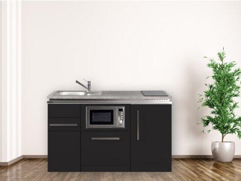 Stengel Miniküche Designline MDGSM 150 Kleinküche mit Kühlschrank, Geschirrspüler und Mikrowelle
