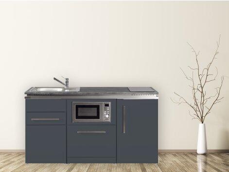 Stengel Miniküche Designline MDGSM 160 mit Kühlschrank, Geschirrspüler und Mikrowelle