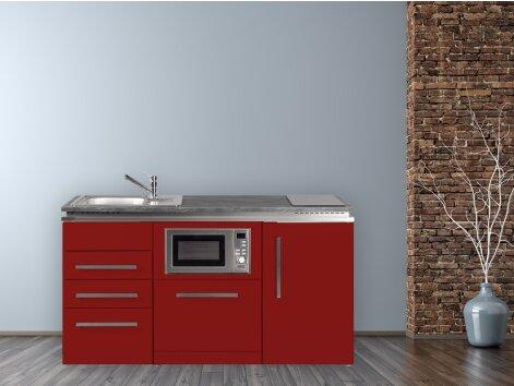 Stengel Miniküche Designline MDGSMS3 160 mit Kühlschrank, Geschirrspüler, Mikrowelle
