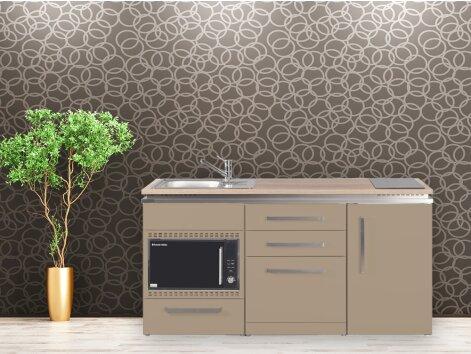 Stengel Miniküche Designline MDGSMOS 170 mit Kühlschrank, Geschirrspüler, Mikrowellenofen