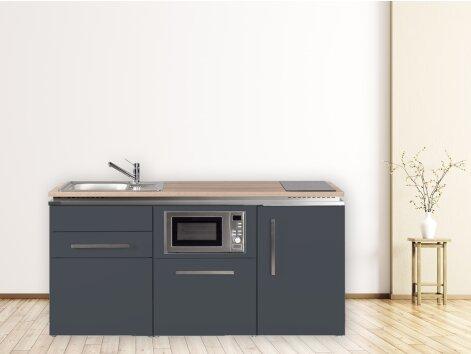 Stengel Miniküche Designline MDGSM 170 mit Kühlschrank, Geschirrspüler und Mikrowelle