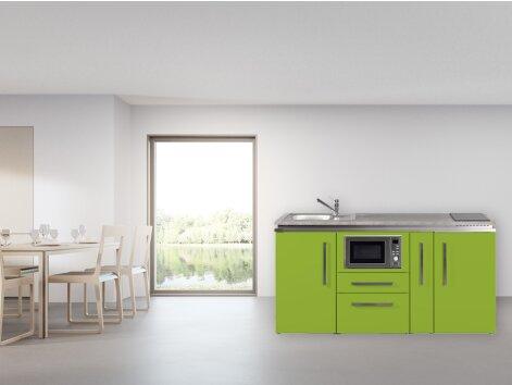 Stengel Miniküche Designline MDM 180 A mit Kühlschrank, Mikrowelle und Apothekerauszug