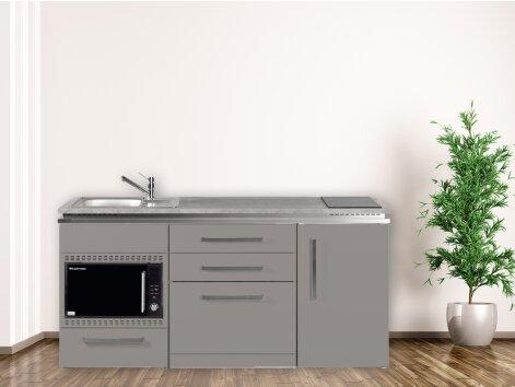 Stengel Miniküche Designline MDGSMOS 180 mit Kühlschrank, Geschirrspüler und Mikrowellenofen