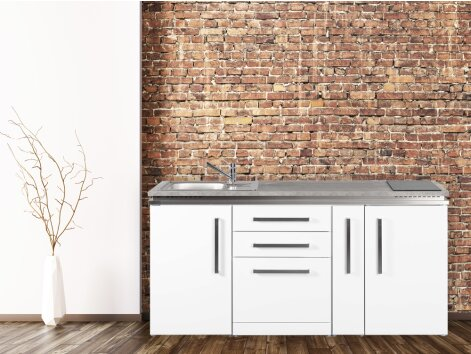 Stengel Miniküche Designline MDGS 180 A mit Kühlschrank, Geschirrspüler und Apothekerauszug