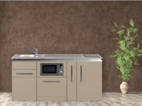 Stengel Miniküche Designline MDGSM 180 A mit Kühlschrank, Geschirrspüler, Mikrowelle und Apothekerauszug