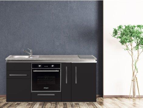 Stengel Miniküche Designline MDB 180 A mit Kühlschrank und Backofen und Apothekerschrank