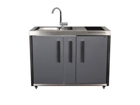 Stengel Miniküche Outdoor MO 120 A mit Spülbecken und Apothekerauszug