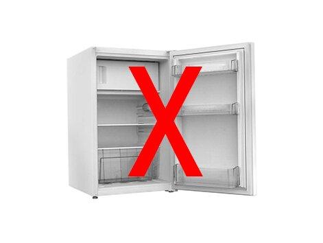 ohne Kühlschrank