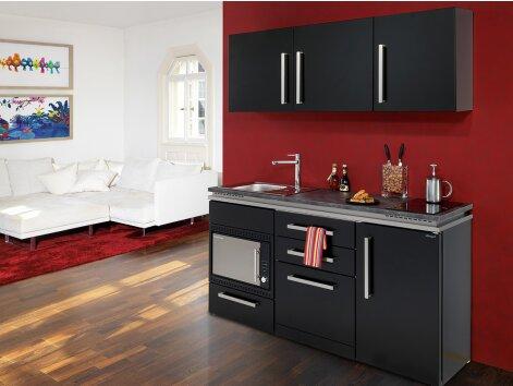 GUSTAVO 170 - Küchenzeile mit Kühlschrank, Geschirrspüler und Mikrowellenofen 170cm