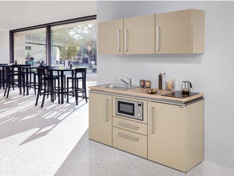 MARIA 160 - Küchenzeile mit Kühlschrank und Mikrowelle 160cm