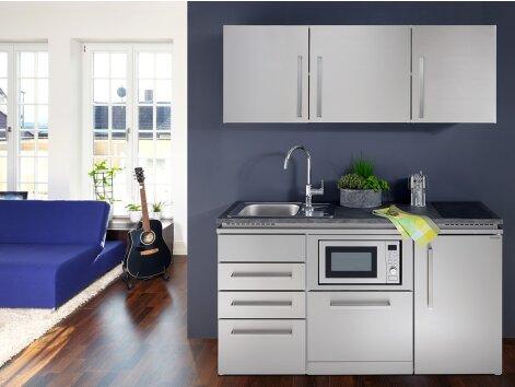 SOFIA 160 - Küchenzeile mit Kühlschrank, Geschirrspüler und Mikrowelle 160cm